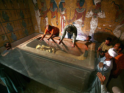 grabkammer tutanchamun bilder